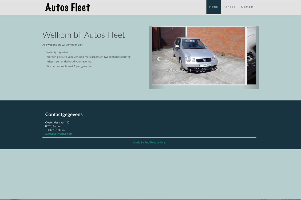 Autos Fleet - Publiproductions